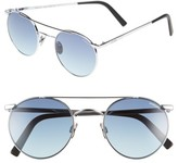 Randolph Engineering Men's 'Shadow' Retro Sunglasses - Bright Chrome/ Navy