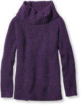 L.L. Bean Women's Cozy Boucl Sweater, Pullover Cowlneck