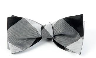 Tie Bar Bison Plaid Black Bow Tie