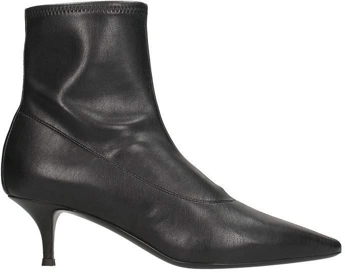 Giuseppe Zanotti Salom? Black Leather Ankle Boots