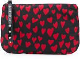 RED Valentino heart print zipped clutch