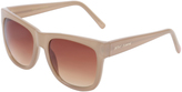Betsey Johnson Tan Square Sunglasses