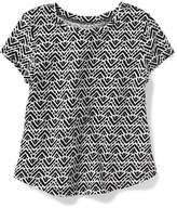 Old Navy Patterned Scoop-Neck Tee for Toddler Girls