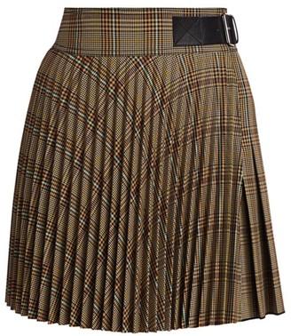 Helmut Lang Plaid Mini Kilt Skirt