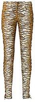 A.L.C. Tigre Print Lace-Up Side Skinny Jeans