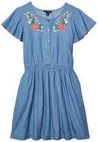 Lucky Brand Kids Thelma Embroidered Denim Dress (Big Kids) (Robin Wash) Girl's Dress