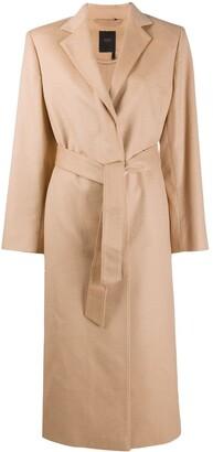 Agnona Tie-Waist Trench Coat