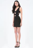 Bebe Double Strap Cutout Dress