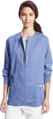 Cherokee Women's Workwear Scrubs Core Stretch Zip Front Warm-Up Jacket