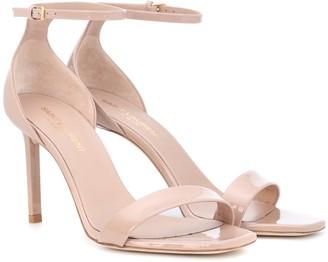 Saint Laurent Amber 85 patent-leather sandals