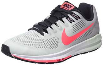 Nike Women's W Air Zoom Structure 21 Running Shoes, Atmosphere Grey/Hot Punch/Bare 009