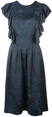 Rosie Assoulin floral criss-cross dress