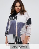 Asos Oversized Abstract Print Shirt