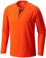 Mountain Hardwear Men's Solid Long Sleeve Henley