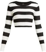 Dodo Bar Or Margaret Striped Cotton Top - Womens - Black White