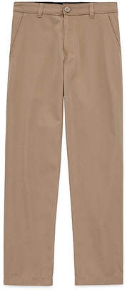 Izod Exclusive Boys Performance Straight Flat Front Pant-Big Kid