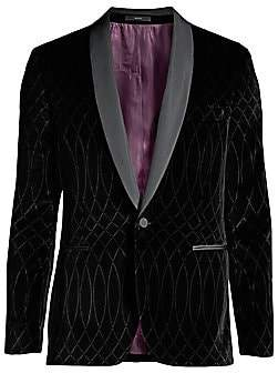 Paul Smith Men's Laser-Printed Velvet Blazer