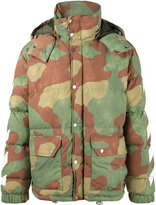 Off-White Diagonal Camouflage Down Jacket