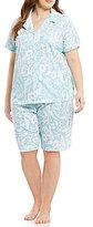Lauren Ralph Lauren Plus Paisley Jersey Pajamas