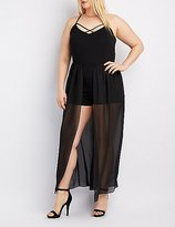 Charlotte Russe Plus Size Strappy Layered Maxi Romper