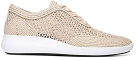 Via Spiga Women's Macra 2 Raffia Lace Up Sneakers