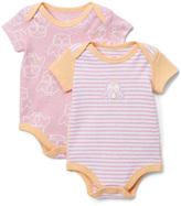 Boppy Pink & Orange Bodysuit Set - Infant