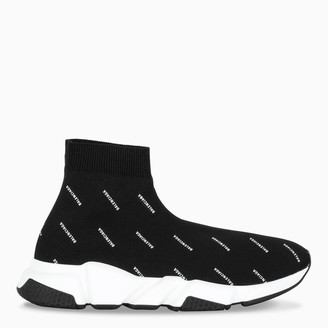 Balenciaga Woman's black logoed Speed sneakers