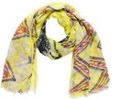 Yigal Azrouel Frayed Abstract Print Scarf