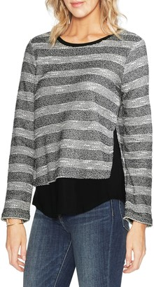 Vince Camuto Heavy Gauze Stripe Knit Sweater
