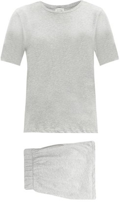 Skin Cady Organic Pima-cotton Pyjamas - Light Grey