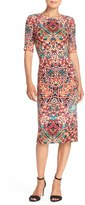 Maggy London Print Crepe Sheath Dress