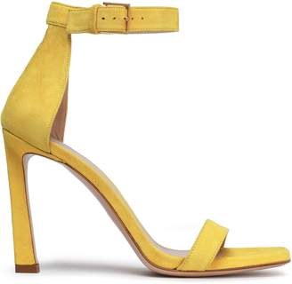 Stuart Weitzman Cutout Suede Sandals