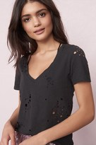Garage Distressed Deep V Relaxed Tee