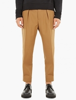 Marni Khaki Loose-Fit Wool Trousers