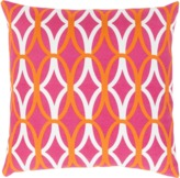 The Well Appointed House Surya Tangerine, Pink and Ivory Geometric Design Pillow-Available in Three Different Sizes