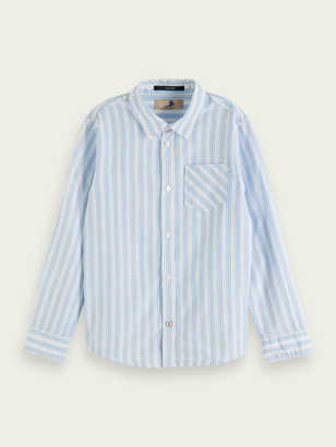 Scotch & Soda Striped long-sleeved cotton shirt | Boys