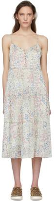 R 13 White Floral Tiered Slip Dress