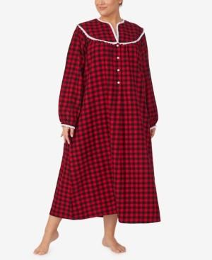 Lanz of Salzburg Plus Size Cotton Flannel Nightgown