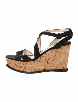 Prada Suede Sandals Black