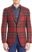 Isaia Wool Plaid Sportcoat