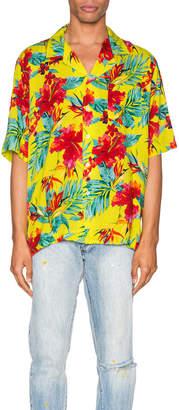 Rhude Hawaiian Shirt in Green | FWRD