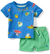 Joules Baby Boys Newborn-12 Months Sea Printed Tee & Shorts Set