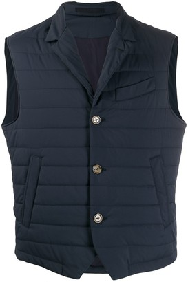 Eleventy Fitted Quilted Gilet