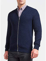 Gant Texture Knit Jacket, Navy