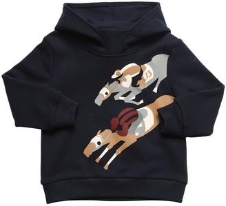 Il Gufo Horse Print Cotton Sweatshirt Hoodie