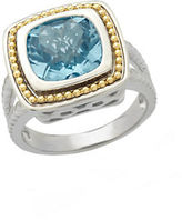 Lord & Taylor Sterling Silver and 14Kt. Yellow Gold Sky Blue Topaz Ring