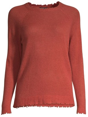 Minnie Rose Distressed Cashmere Sweater