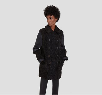 Mulberry Velma Coat Black Shearling