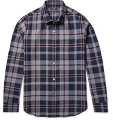Theory Rammis Slim-Fit Checked Cotton Shirt