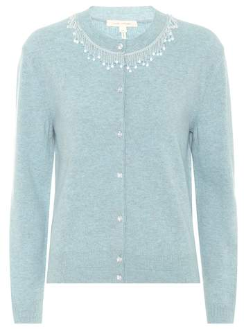 Marc Jacobs Beaded wool and cashmere cardigan